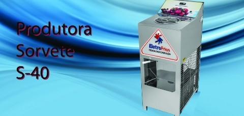 SORVETEIRA - 40 A 50 LITROS HORA - SEM ÁLCOOL - ELETROFRIO
