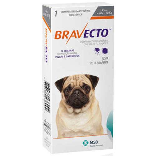 Antipulgas e Carrapatos para Cães Bravecto - 4,5 A 10 KG