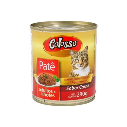 Patê Colosso Lata para Gatos Sabor Carne - 280 grs