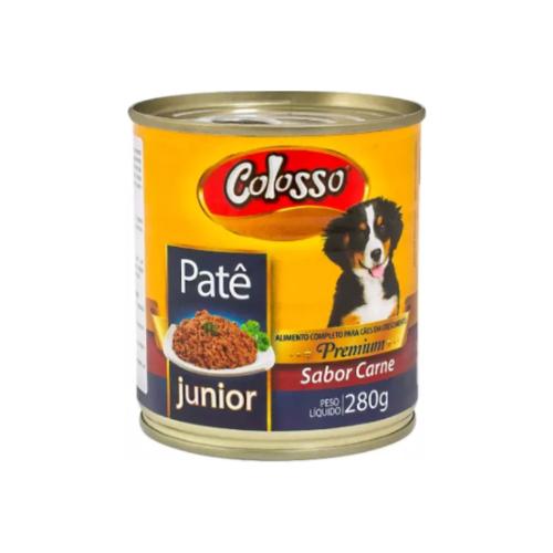 Patê Colosso Lata para Cães Filhotes Sabor Carne - 280 grs