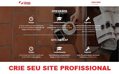 Crie seu site com a Izap