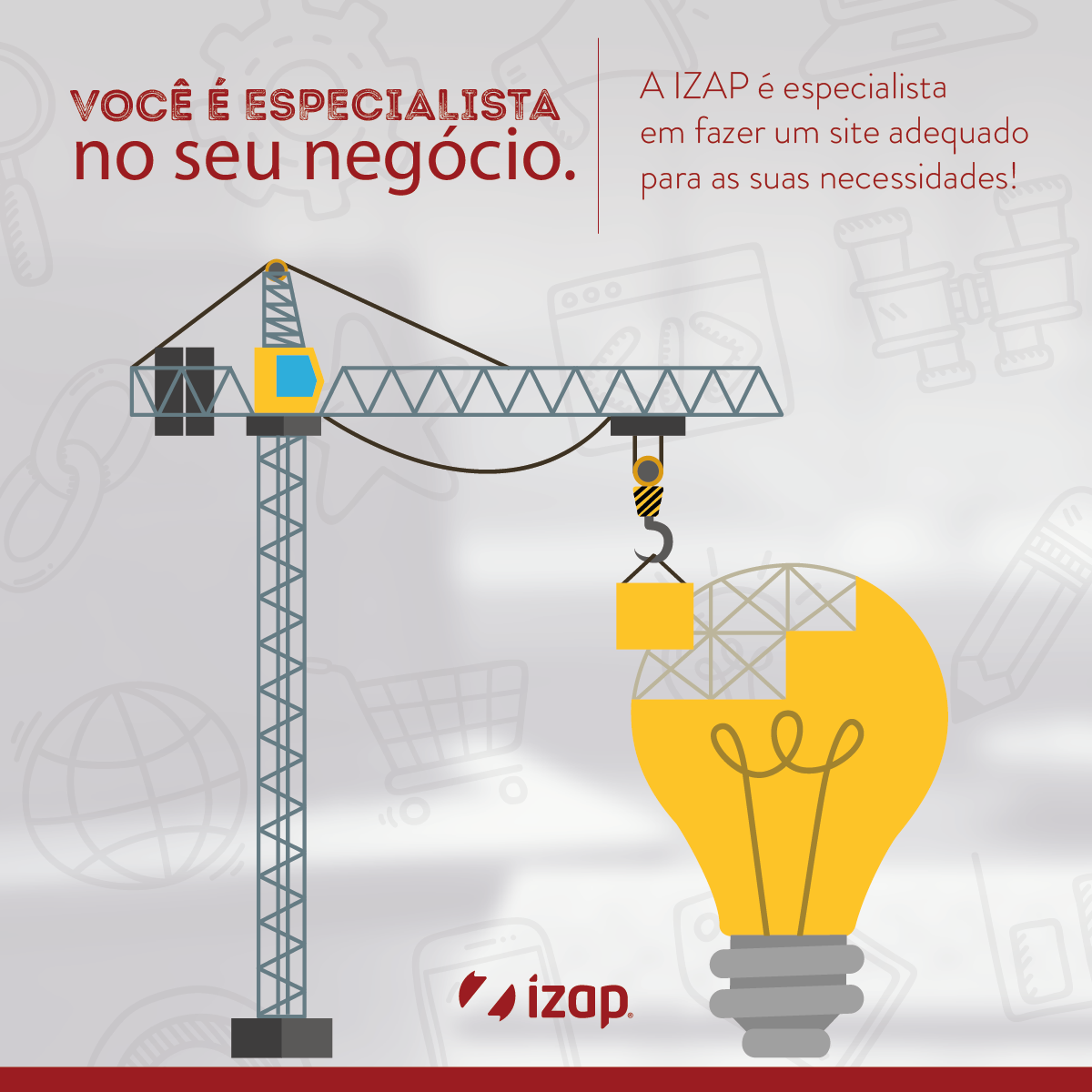 faça seu site na iZap!