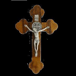 Crucifixo em madeira - parede 12cm