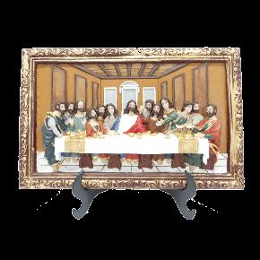 Santa ceia - com moldura e suporte para mesa