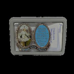 Medalha devocional - Anjo - Azul