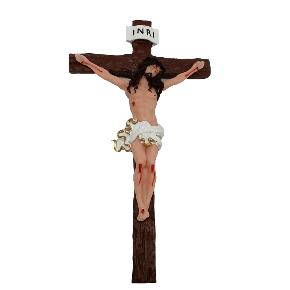 Crucifixo de resina - 25cm