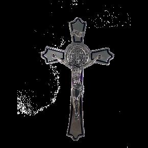 Crucifixo de parede São Bento - Níquel