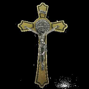 Crucifixo de parede São Bento - Ouro Velho