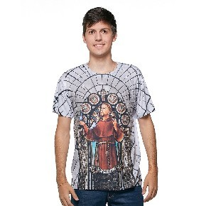 Camiseta masculina São Francisco de Assis