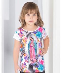 Blusa infantil Nossa Senhora de Guadalupe. Tal mãe, tal filha