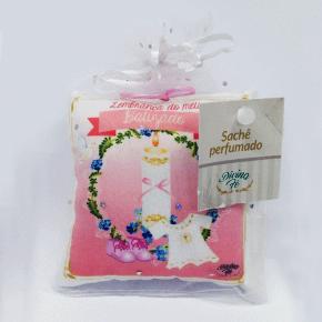 Sachê perfumado Batizado - rosa