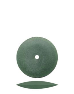 Lentilha Silicone verde Abrasiva