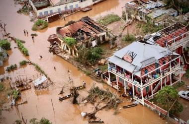 Ciclone tropical arrasou a região central de Moçambique, na África / Foto: Adrien Barbier/AFP