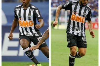 Cazares e Luan foram substituídos no decorrer do jogo de ida da final do Mineiro reclamando de dores musculares/ Bruno Cantini / Atlético /