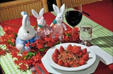 Risoto com cacau e morango, atração do Restaurante Maurizio Gallo (foto: Marcos Vieira/EM/D.A Press)