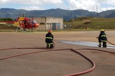 Corpo de Bombeiros participou da simulação de resgate / Divulgação/CBMMG
