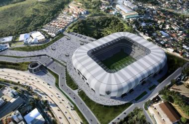 Arena MRV é tema de batalha judicial entre Ministério Público e a empresa responsável pela construção do estádio Foto: Farkasvölgyi Arquitetura/Atlético/Divulgação