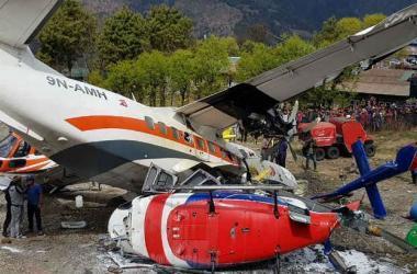 Lukla é um dos aeródromos mais difíceis do mundo para pousos e <br>decolagens Ang Tashi Sherpa / AFP