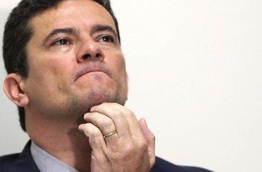 O ministro e antigo juiz Sergio Mouro nesta sexta-feira em Brasília. SERGIO LIMA AFP