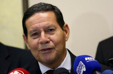 Mourão afirmou que defendeu o presidente Jair Bolsonaro diante de congressistas dos EUA Foto: Wilson Dias/Agência Brasil