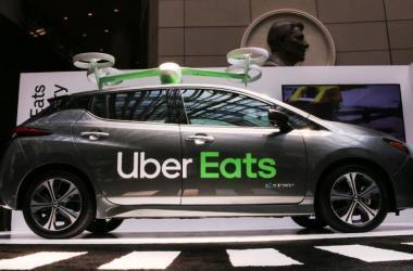 A Uber apresentou em sociedade seu mais recente veículo autônomo, produzido pela Volvo Foto: Anna-Rose Gassot/AFP