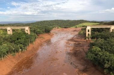 As estacas foram instaladas próximo à ponte Alberto Flores, que foi destruída pela lama da barragem /Divulgação / Cemig
