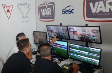 Sala do VAR será mantida no Independência Foto: Divulgação/FMF
