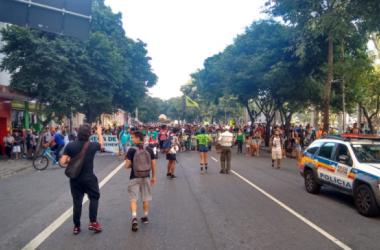 Da Praça da Estação, os manifestantes seguiram até a Praça da Liberdade / Divulgação