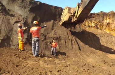 Região onde foi encontrado o corpo em Brumadinho. Foto: Divulgação / CBMMG