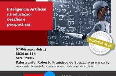 07/06: Inteligência artificial na educação: desafios e perspectivas. Participe