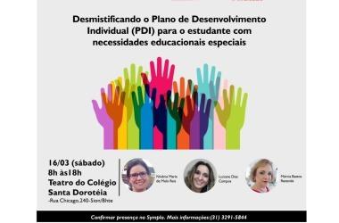 16/03: ÚLTIMAS VAGAS: Desmistificando o PDI para o estudante com necessidades educacionais especiais