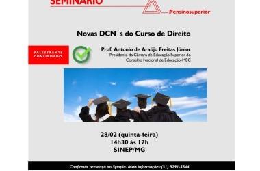 28/02: Seminário gratuito do Ensino Superior aborda DCN's do curso de Direito