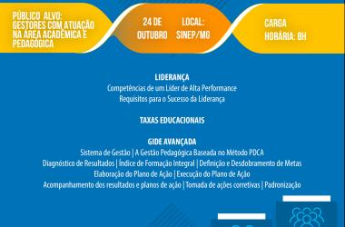 """24/10: SINEP/MG INDICA: FDG realiza curso sobre """"Gestão pedagógica no contexto da GIDE avançada"""""""