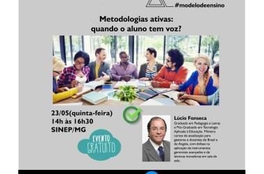 23/05: Palestra - Metodologias ativas: quando o aluno tem voz?
