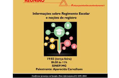 AMANHÃ, 19/03: Palestra sobre Regimento Escolar e noções de Registro para Ed. Infantil. GRATUITA!