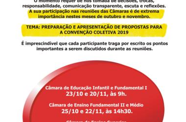 Reuniões das Câmaras Setoriais em novembro vão tratar CCTs; participe