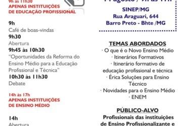 Reforma do Ensino Médio e relação com Ensino Técnico no dia 14 de agosto