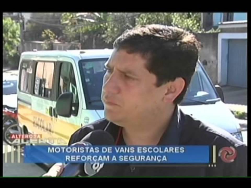 Segurança é reforçada por motoristas de vans escolares entrevista SINTESC